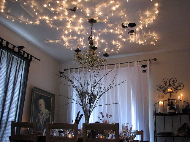 Harry Potter Fairy Lights On Ceiling Also Hanging