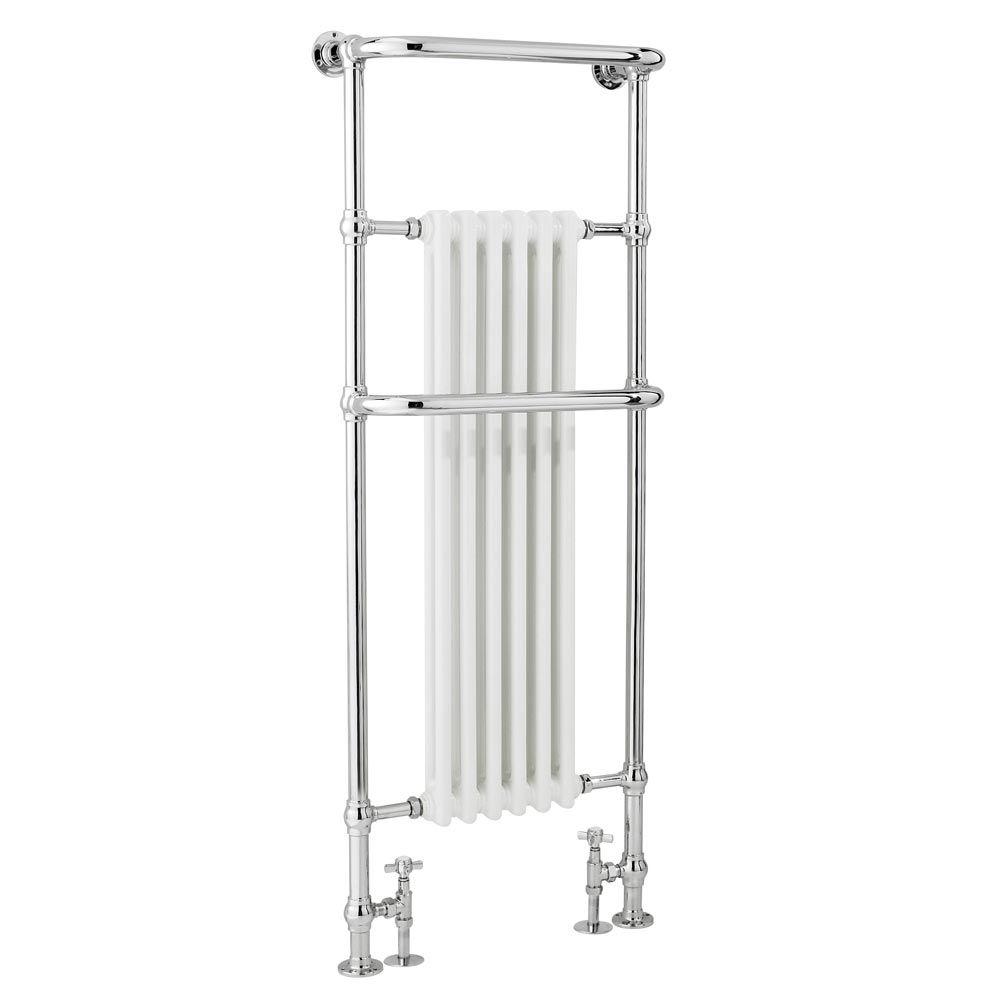 Small heated towel rails for bathrooms - Dartford Traditional Floor Mounted Heated Towel Rail Radiator