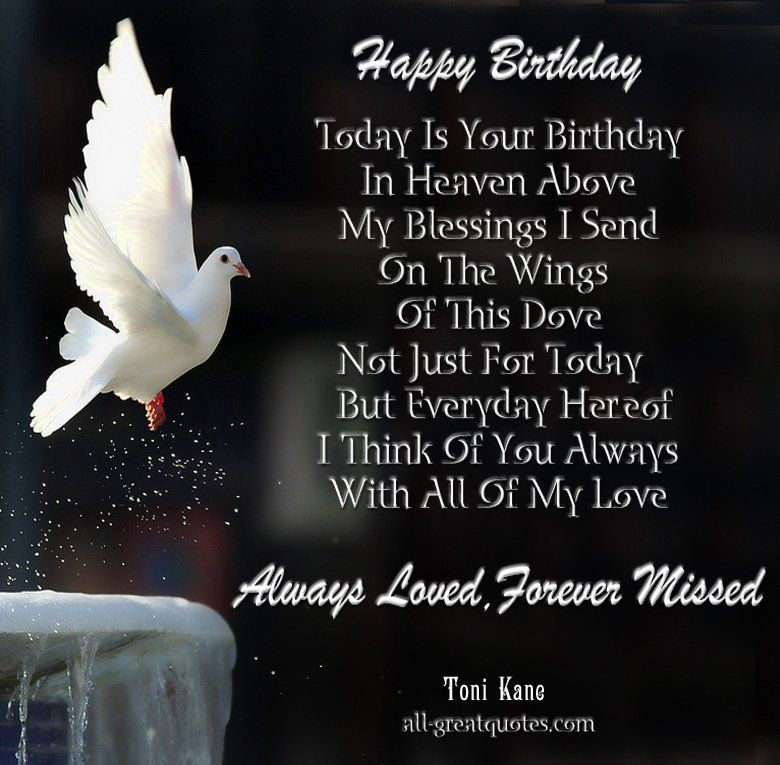 In Loving Memory Happy Birthday In Heaven Card – Free E Birthday Cards for Son