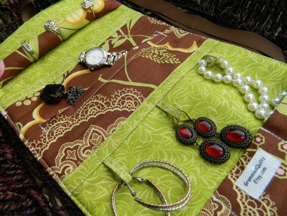 NEW Soft Travel Jewelry Roll Travel Jewelry Case Travel Jewelry