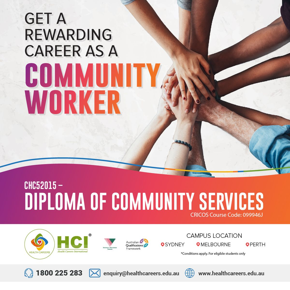 Community workers support patients in getting the