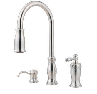Pfister Gt526 Tm Pull Out Kitchen Faucet Faucet Brass Faucet