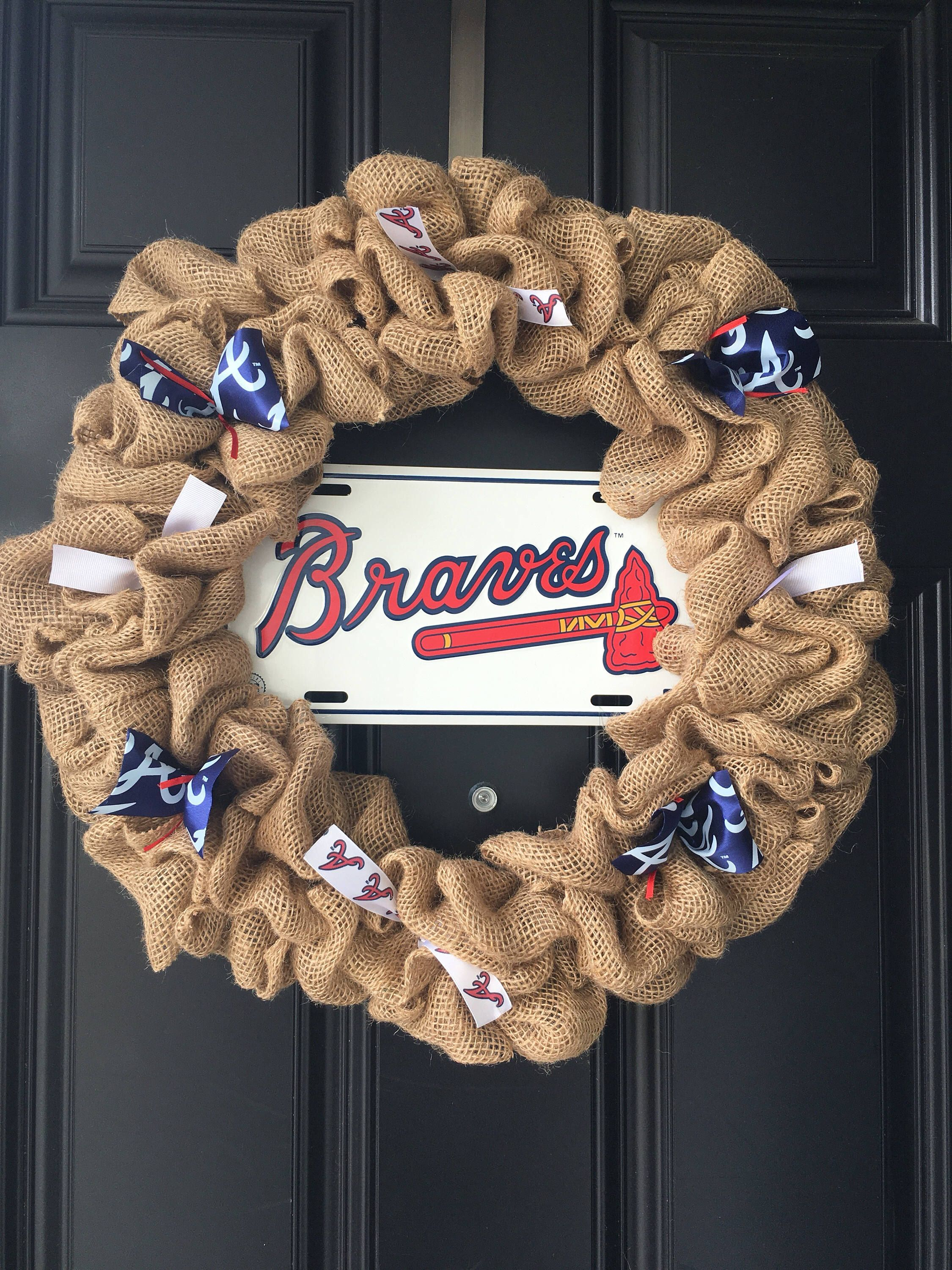 Braves Wreath Atlanta Braves Baseball Wreath A Personal Favorite From
