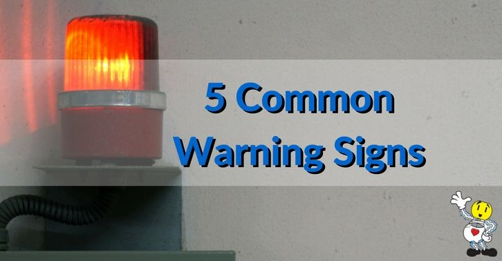 5 Common Electrical Warning Signs Warning Signs Electricity
