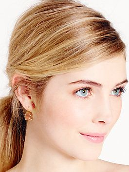 Kate Spade Round Leverback Earrings By New York