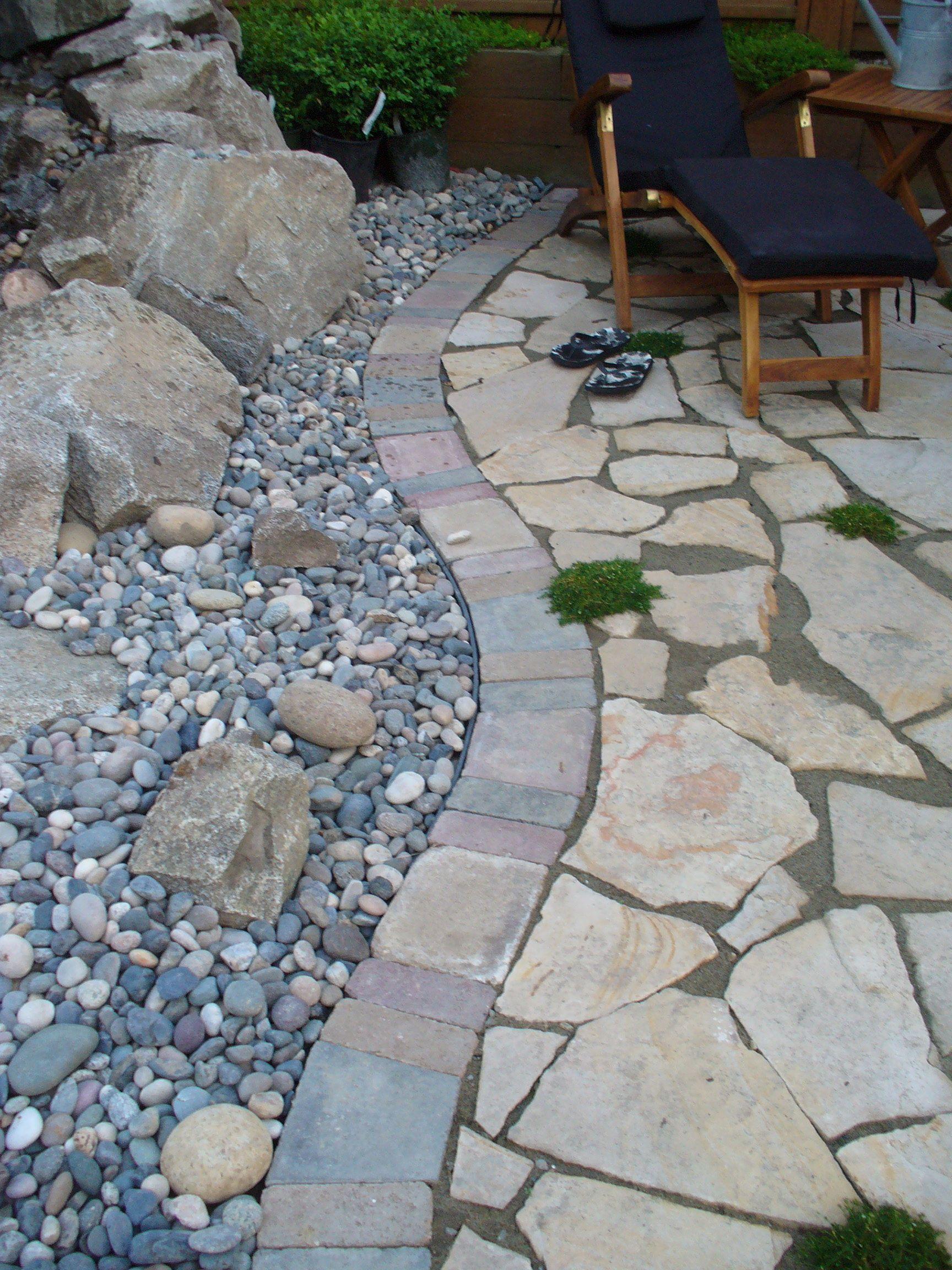 Paver Edging Lawn Garden Pinterest