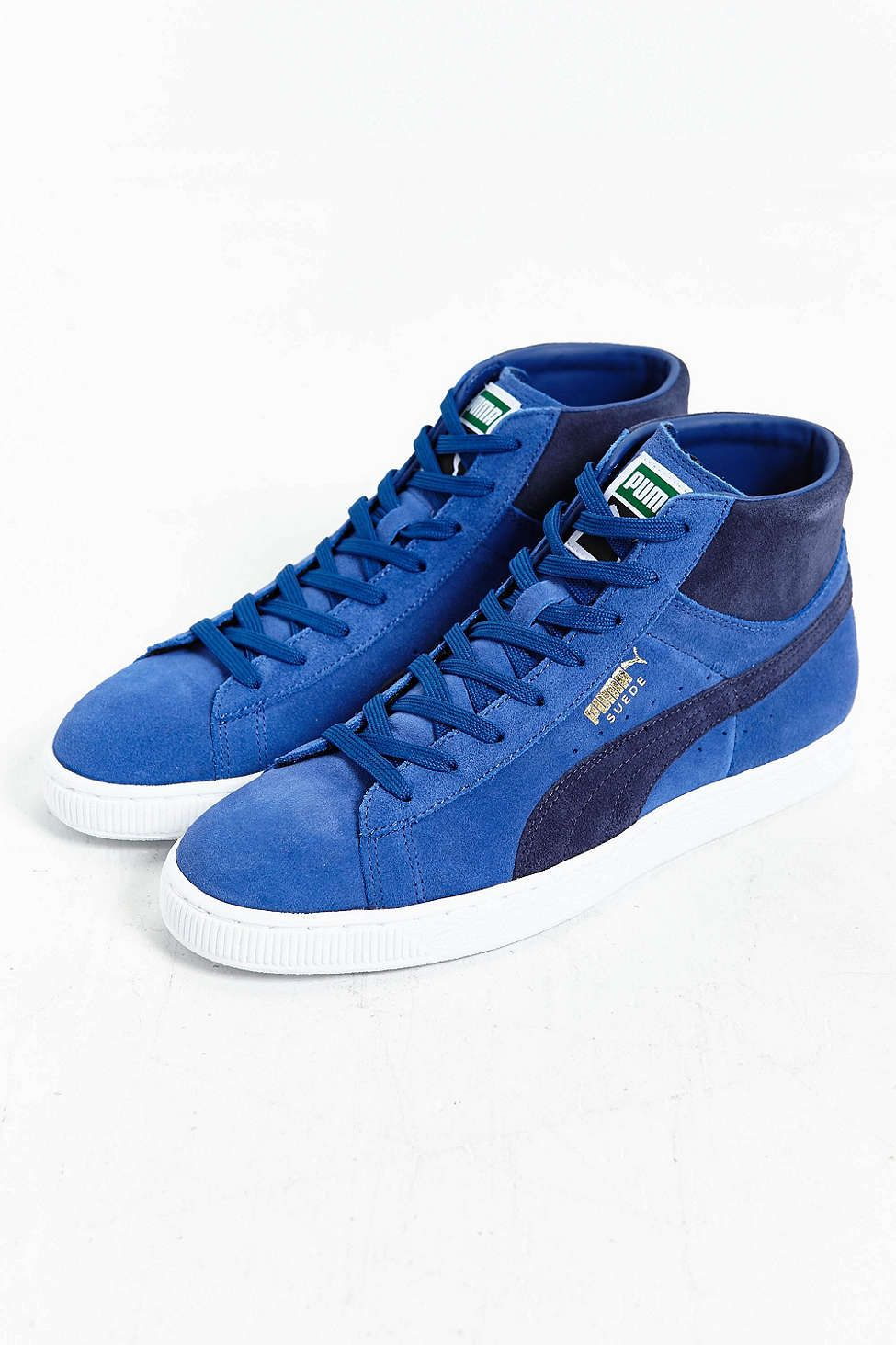 f1d87eb20fab Puma Suede Mid Classic Sneaker Navy Shoes