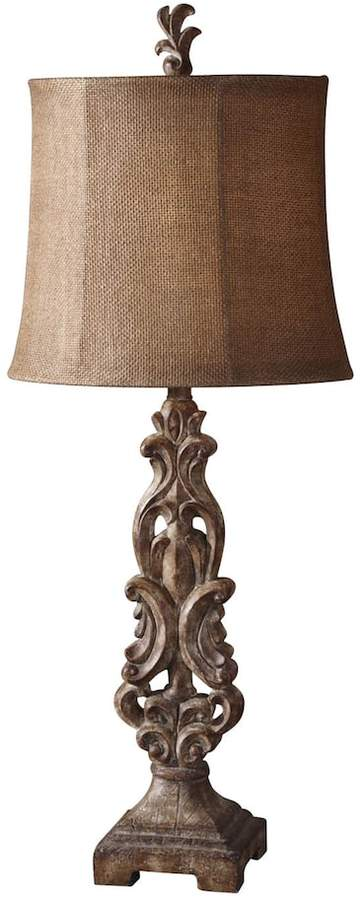 Kohls Table Lamps Classy Kohl's Gia Distressed Scroll Table Lamp 2018