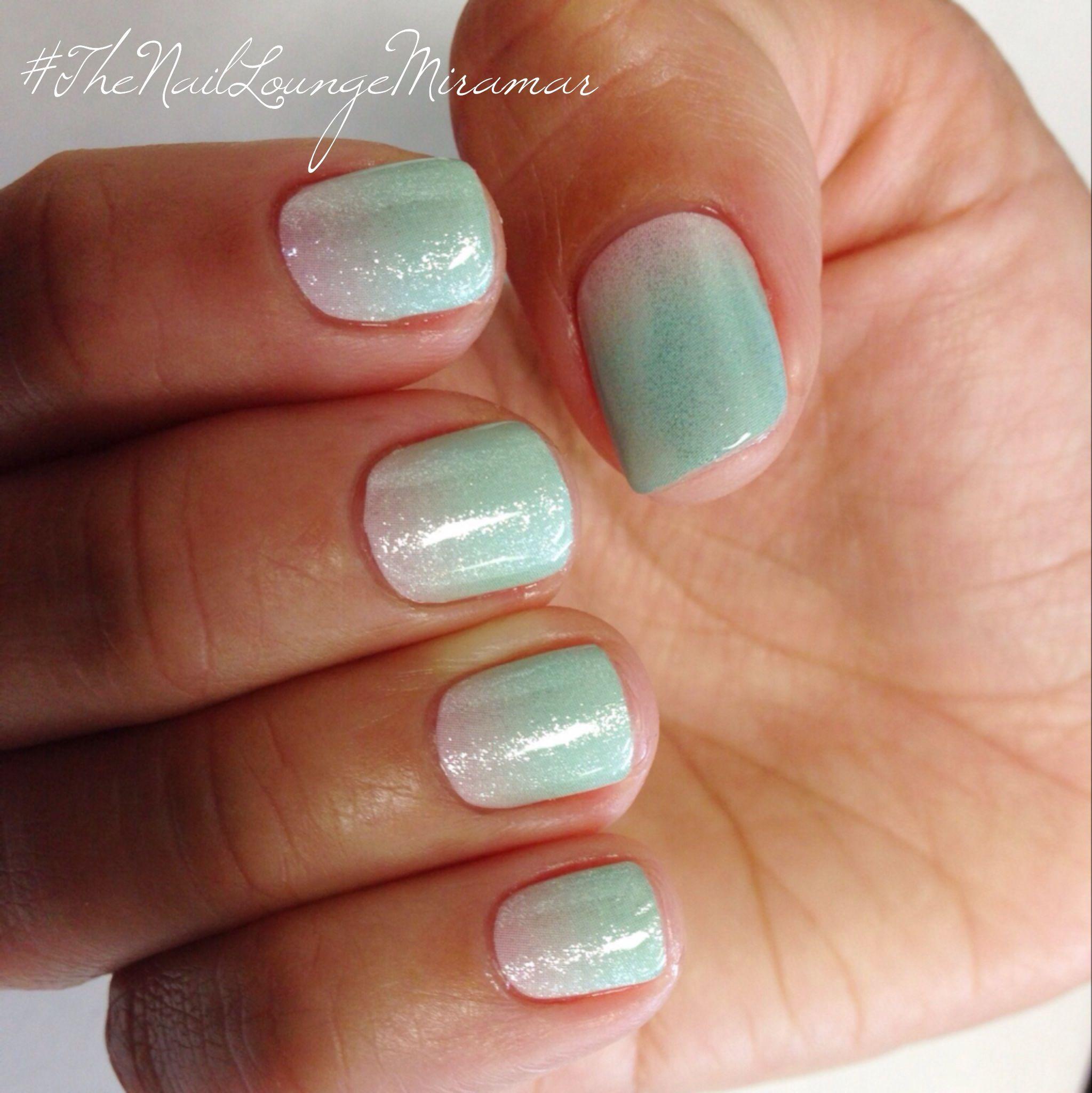 Mint Ombré Nails, Gel Nails