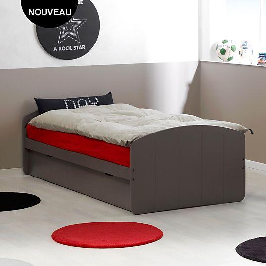 lit gigogne tobia lit gigogne camif camif bed home decor et furniture. Black Bedroom Furniture Sets. Home Design Ideas