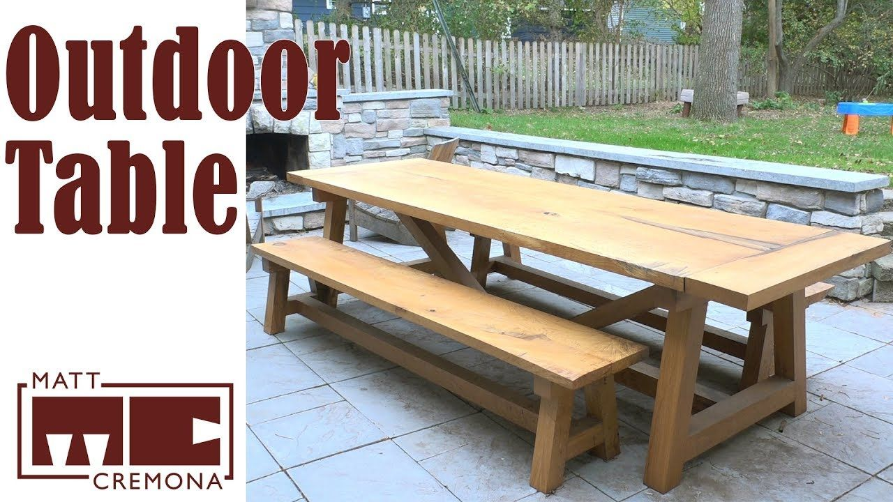 white oak farmhouse table and benches wood slabs slab furniture rh pinterest com  white oak outdoor furniture north carolina