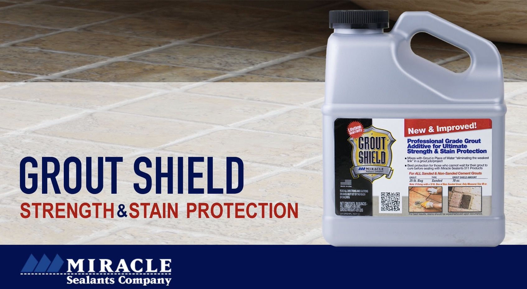 Protect Your Grout Line With The New And Improved Shield Www Miraclesealants