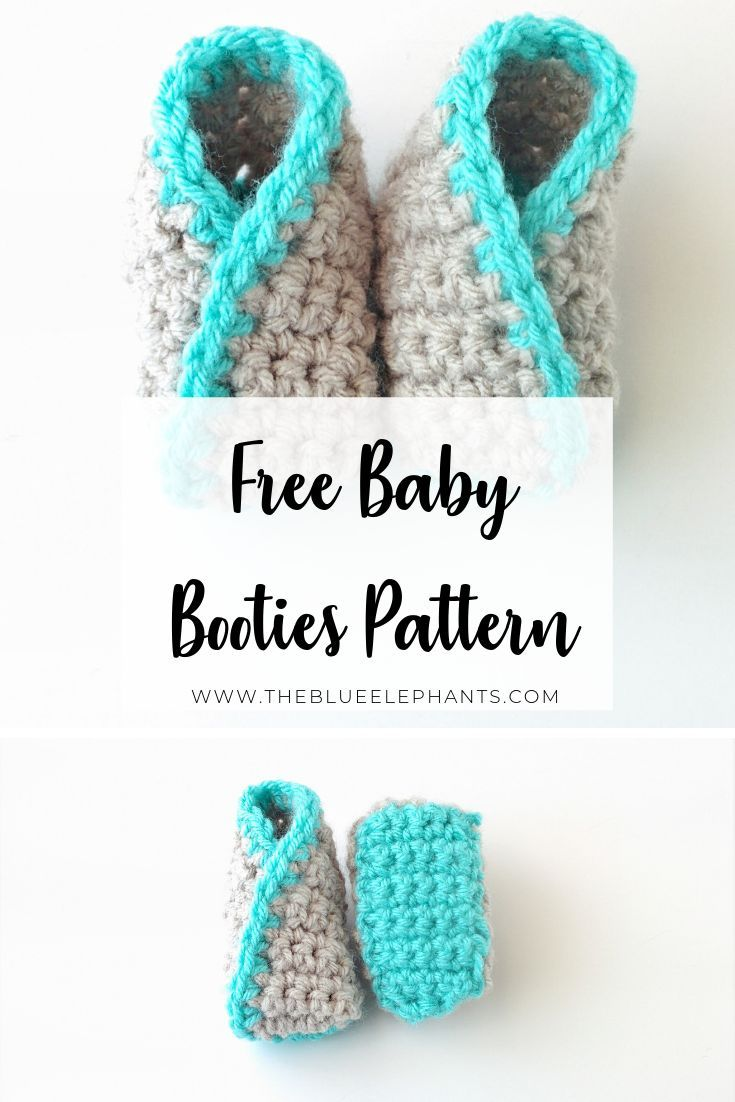 Kimono Baby Booties Pattern: Crochet Baby Booties for Beginners