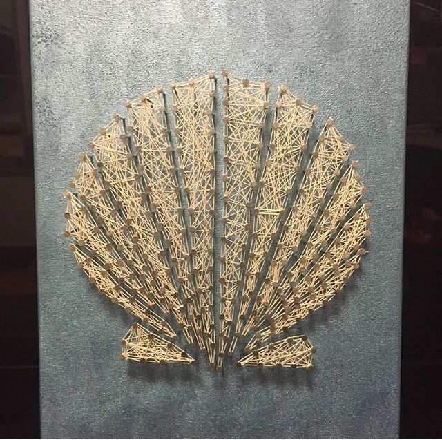 seashell string art string art pinterest clous art filaire et tableau clou ficelle. Black Bedroom Furniture Sets. Home Design Ideas