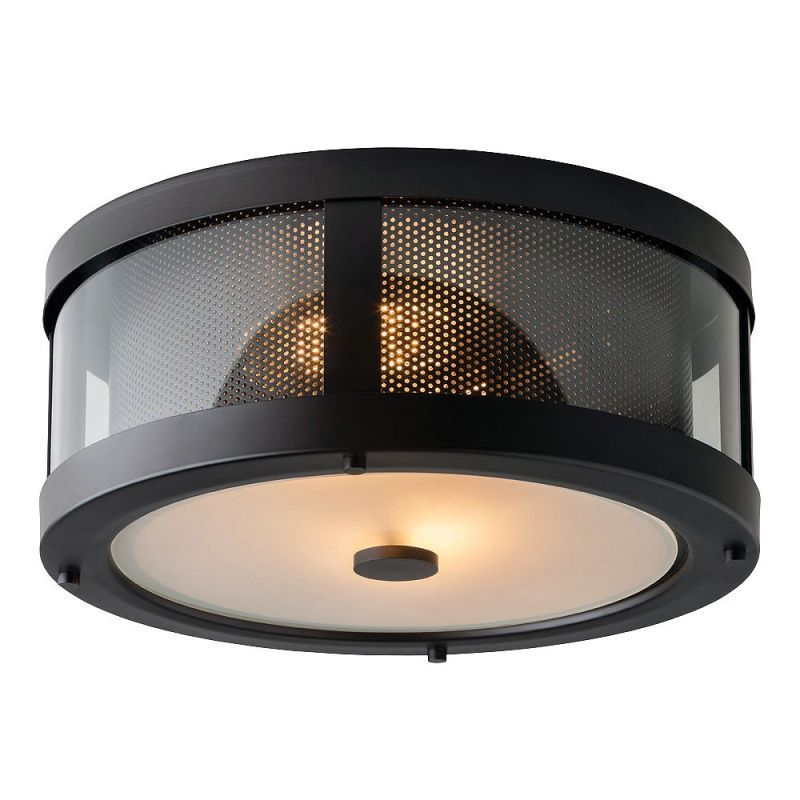Feiss ol12013 bluffton 2 light outdoor flush mount ceiling fixture oil rubbed bronze outdoor lighting ceiling