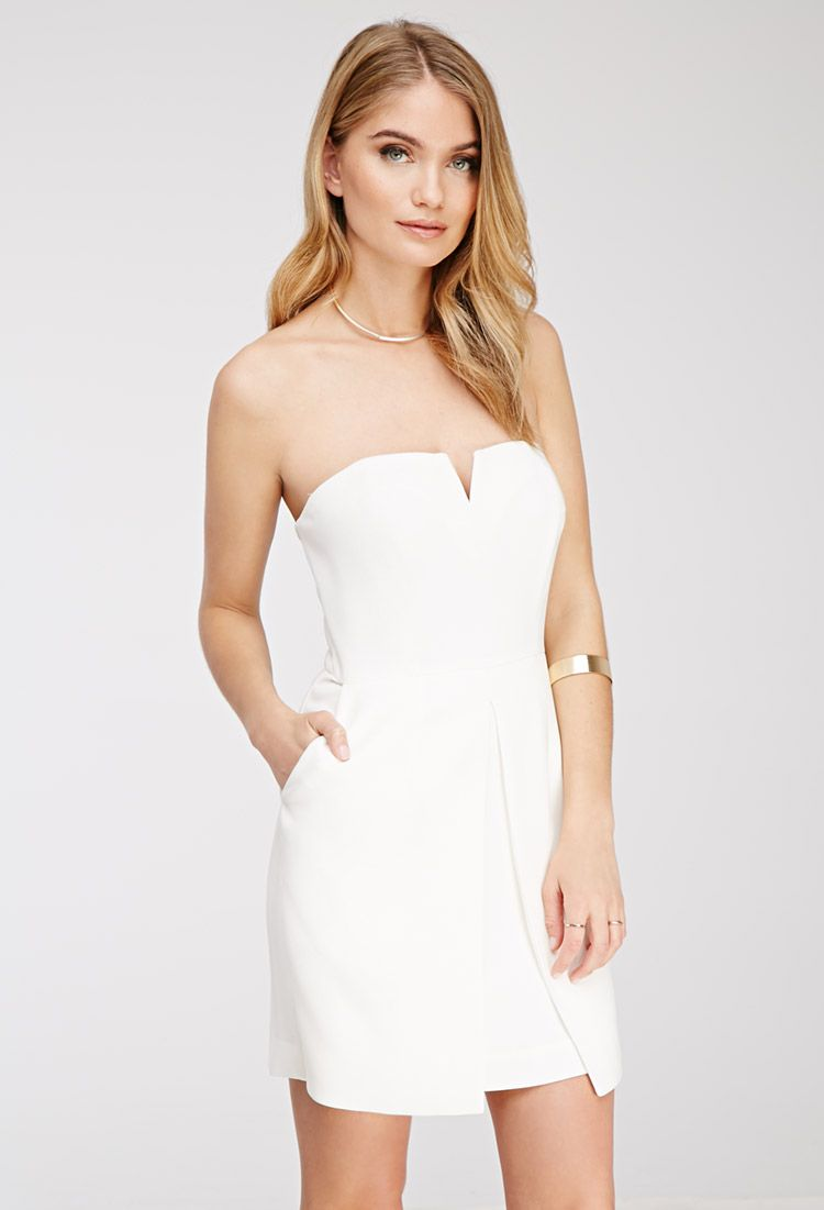 10  images about Little White Dress on Pinterest  Strapless dress ...