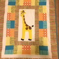 Quilting : Giraffe baby quilt | munk | Pinterest : giraffe baby quilt pattern - Adamdwight.com