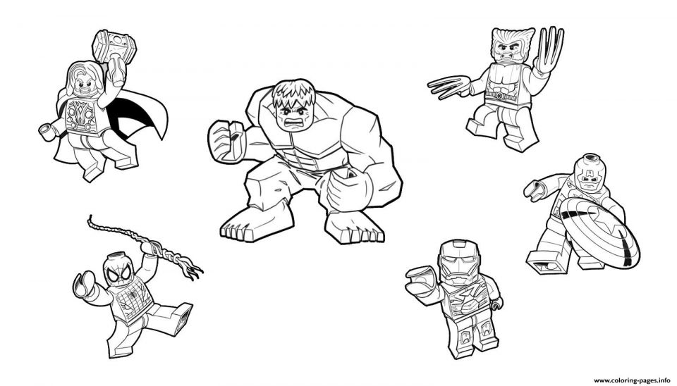 Lego Avengers Coloring Pages Con Imagenes Lego Marvel Marvel