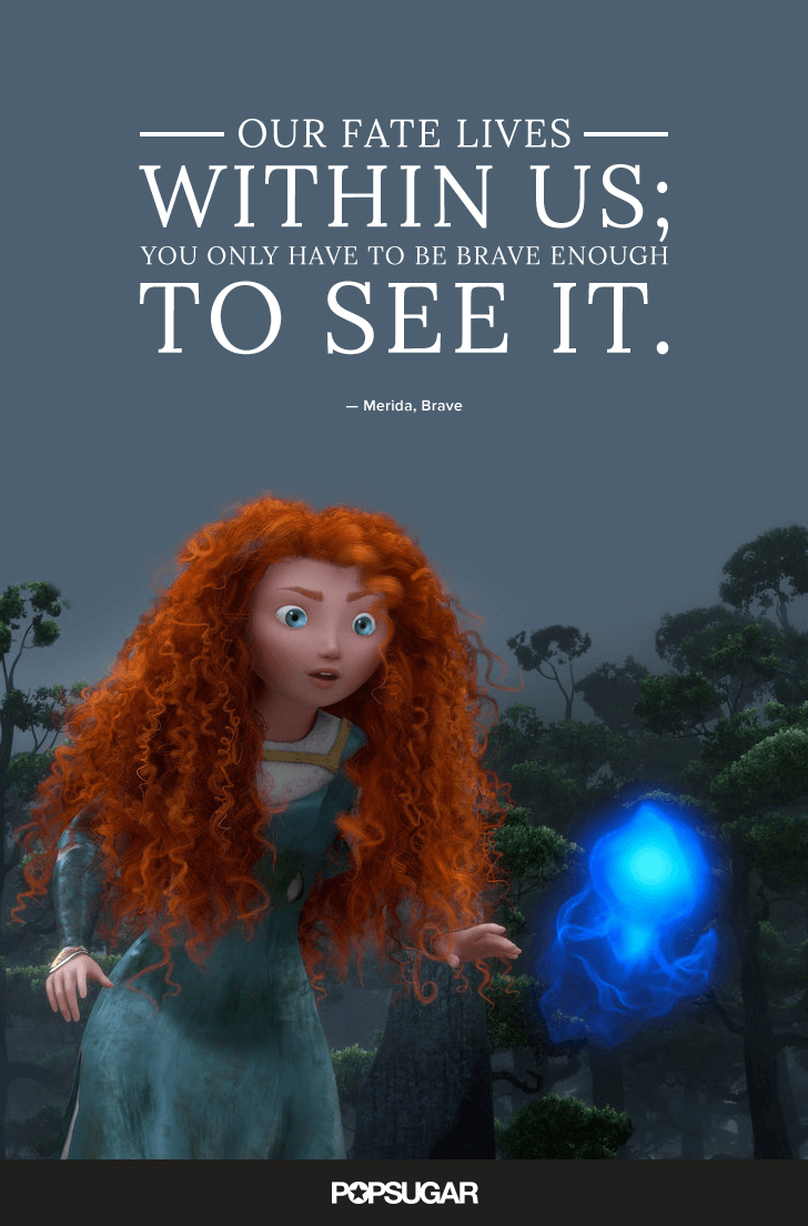 A powerful Disney quote about potential from Brave's Merida.