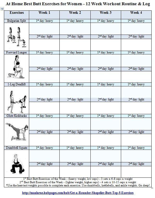 Kostenlose druckbare Fitness-Workout-Routinen   Trainingsprotokoll für Frauen ... -  Kostenlose druc...