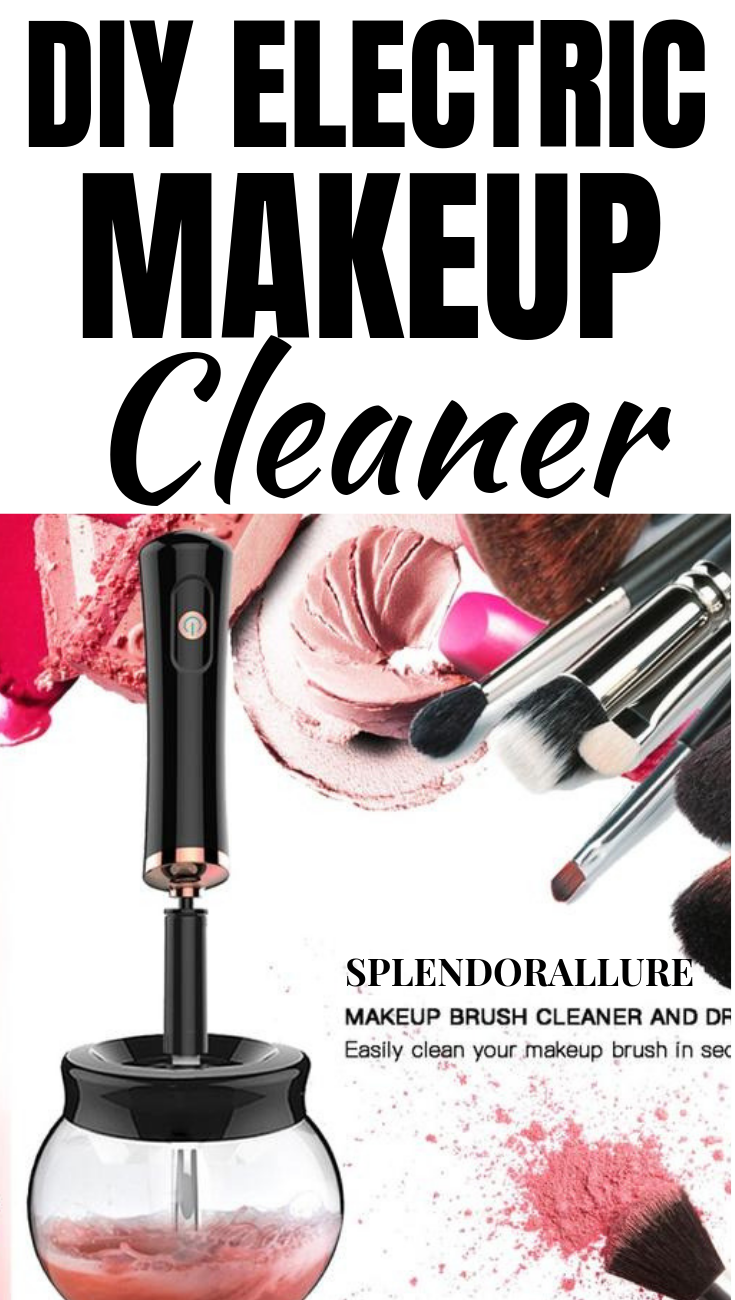 Shop your own DIY Makeup Brush Cleaner. Use this machine to clean your brushes in seconds. No need to wait hours or a day!