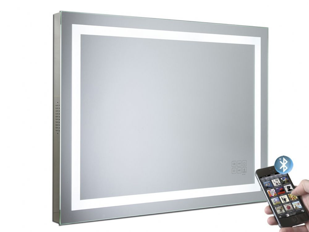 Beat Illuminated Bluetooth Bathroom Mirror With Speakers Renos