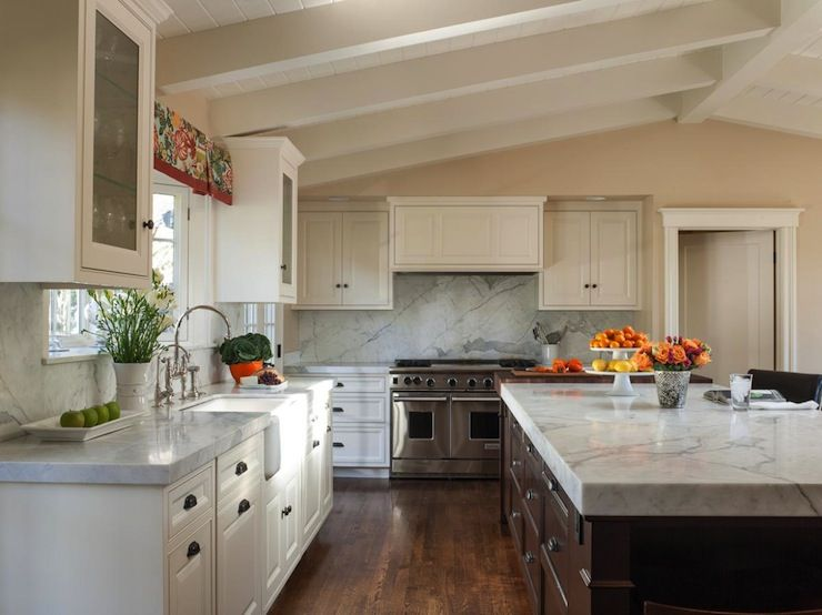 Kitchen Cabinets To Ceiling similar layout, similar vaulted ceiling. notice trim on cabinets
