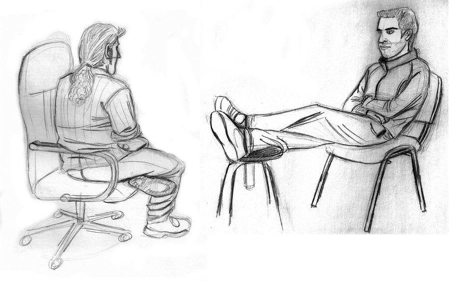 города картинки рисунки сидящих людей настоящее время