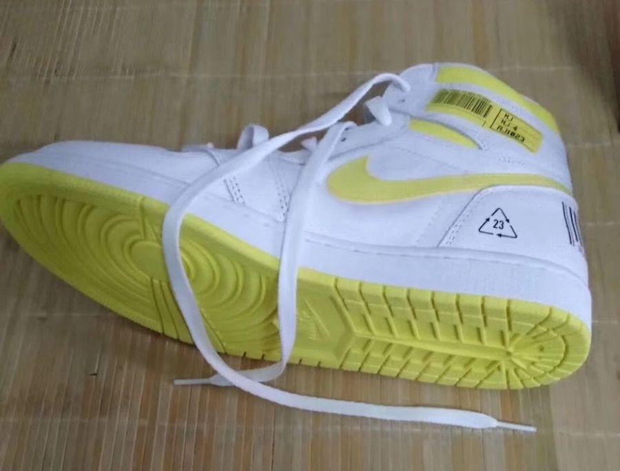 Air Jordan 1 White Yellow Barcode