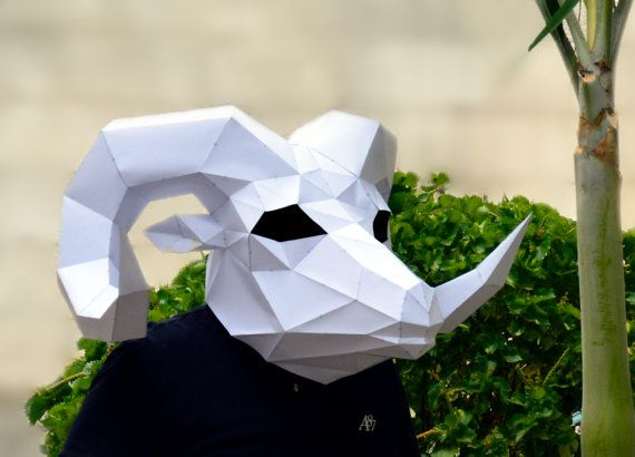 Make your own Rams Head Mask.  papercraft  Digital by PlainPapyrus
