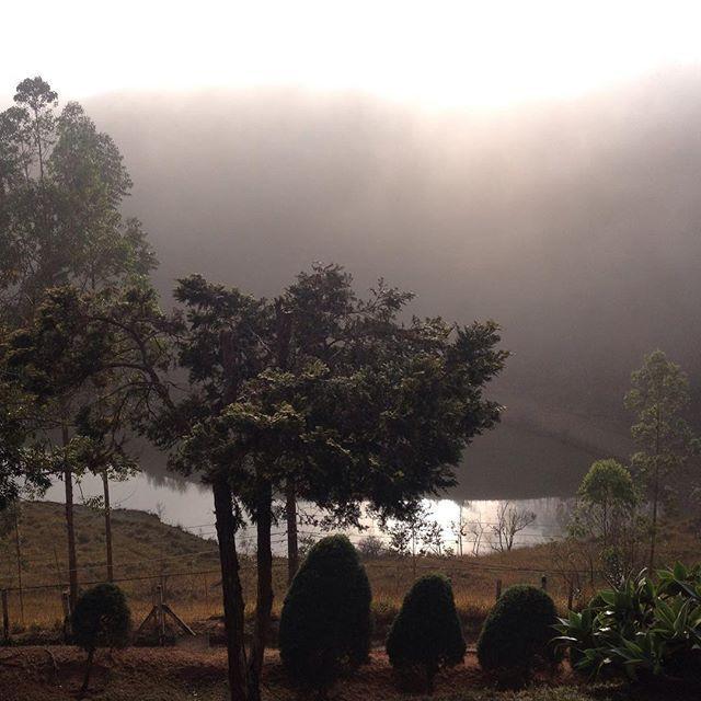 O dia começa assim com névoa. / A foggy winter morning. #bomdia #goodmorning #MiguelPereira #RioInterior #RiodeJaneiro #Brasil #invernonaserra #semfiltro