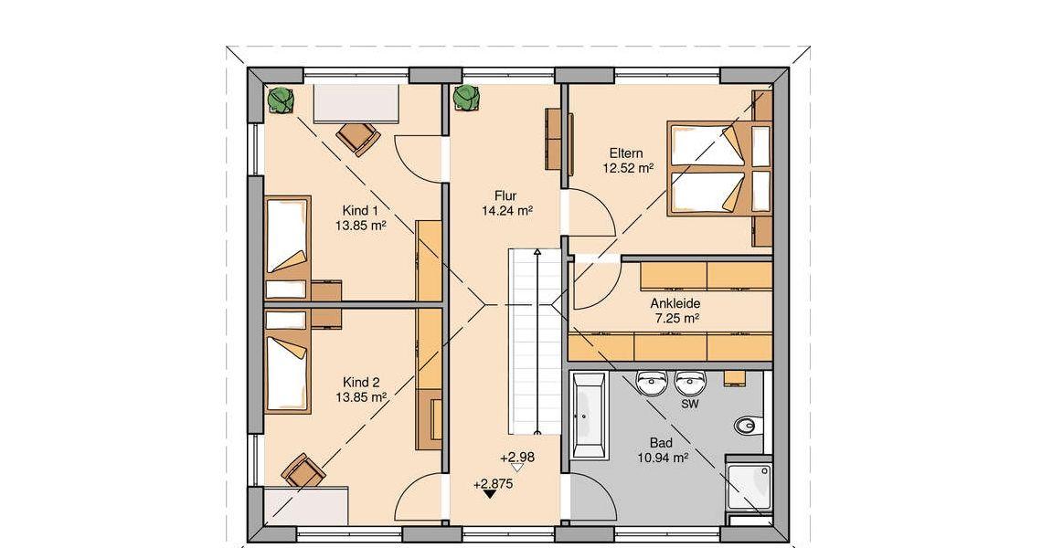 bungalow mit keller am hang grundriss wohn design. Black Bedroom Furniture Sets. Home Design Ideas