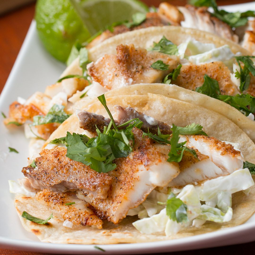 Here S What You Need Green Cabbage Red Onion Sour Cream Lime Salt Tilapia Fillet Cayenne Pepper Garlic Powder Easy Fish Tacos Recipes Fish Tacos Recipe