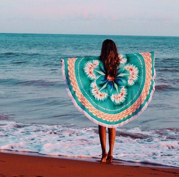 LOOK LEGAL  A reinvenção da canga!Canga redonda!!! Beach Blanket 824aee9d6