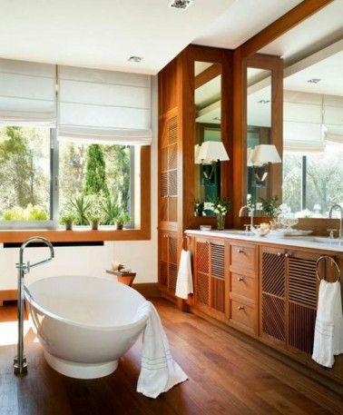 Salle de bain bois pour une déco au confort maxi   Salle de bain en ...