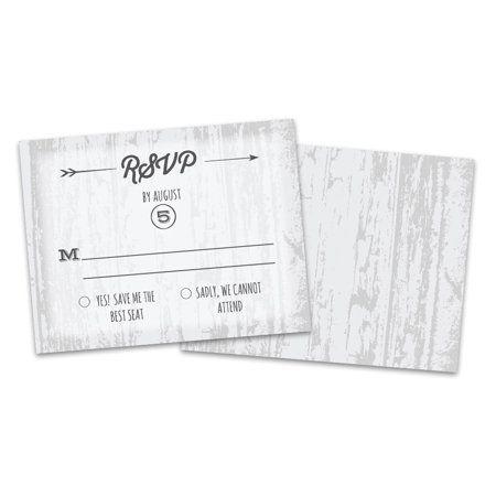 Personalized Barn Door Wedding Response Cards Black In 2019