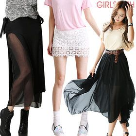 Gmarket - Plaid high waist skirts / slim fit / H-line / A-line /...