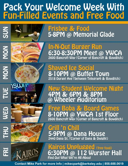Event Calendar Flyer Week Events Web Flyer Welcome Week  Welcome