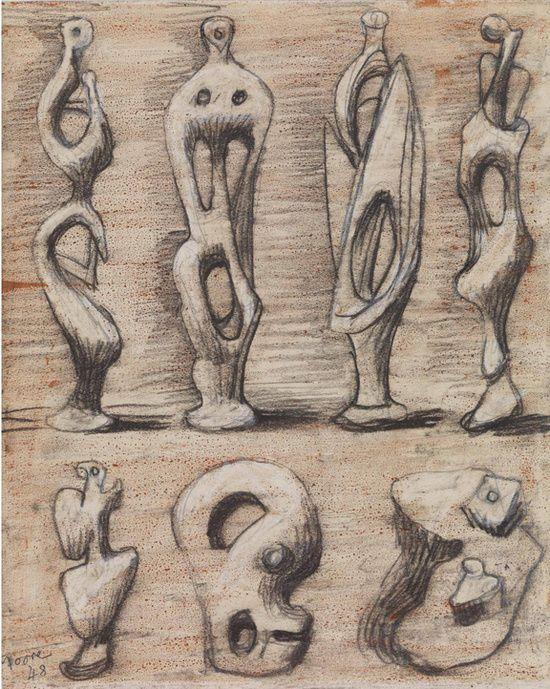 henry moore drawings week 2