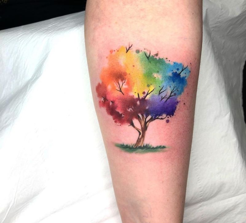 Watercolor Tattoos Will Turn Your Body into a Living Canvas - KickAss Things