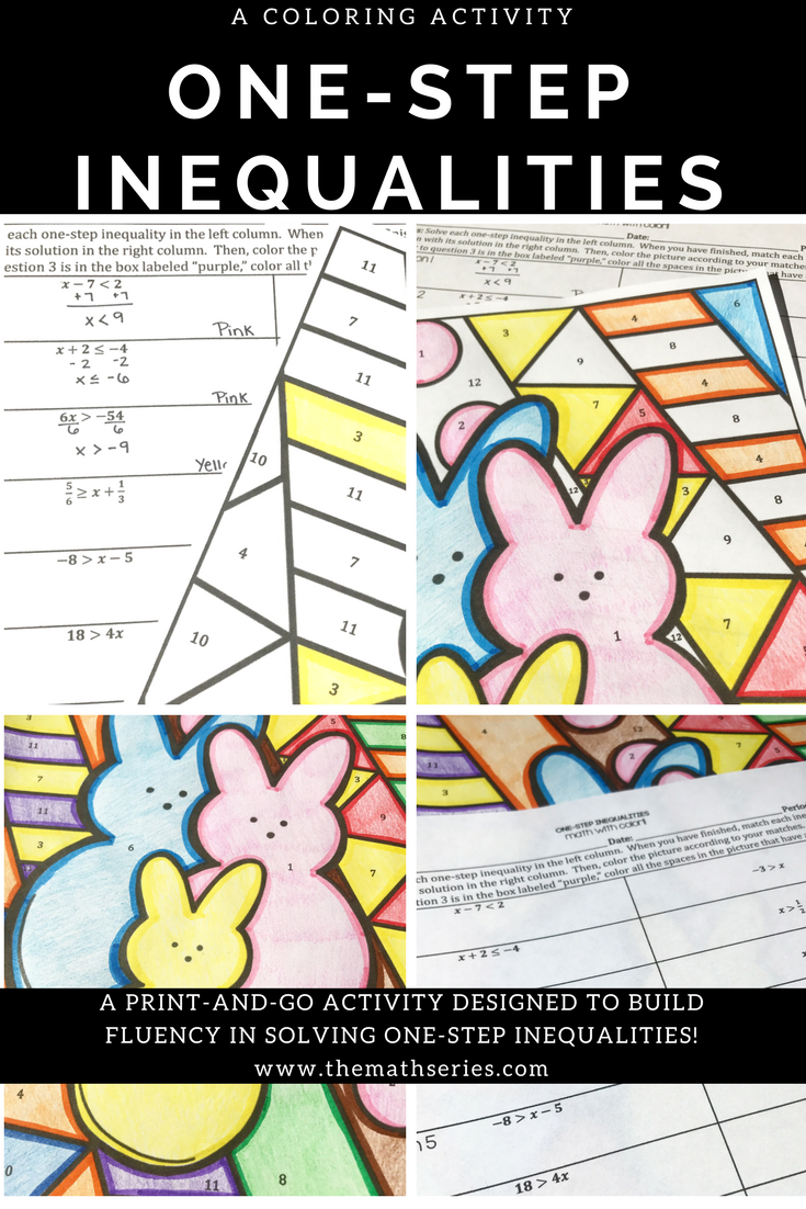Are You Teaching Middle School Math And Looking For A Fun And Exciting Way To Get Your Students S Solving Inequalities Inequalities Activities Color Worksheets [ 1102 x 735 Pixel ]