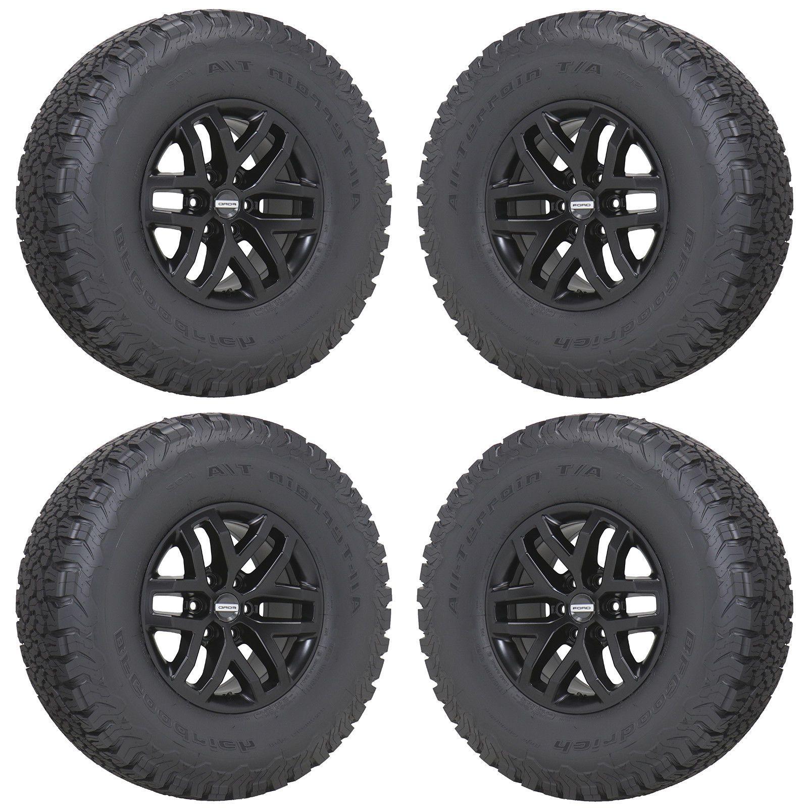 17 Ford F150 Raptor Truck Black Wheels Rims Tires 2017 2018 Set 4 10115 Ebay Ford F150 Raptor Raptor Truck Wheel Rims