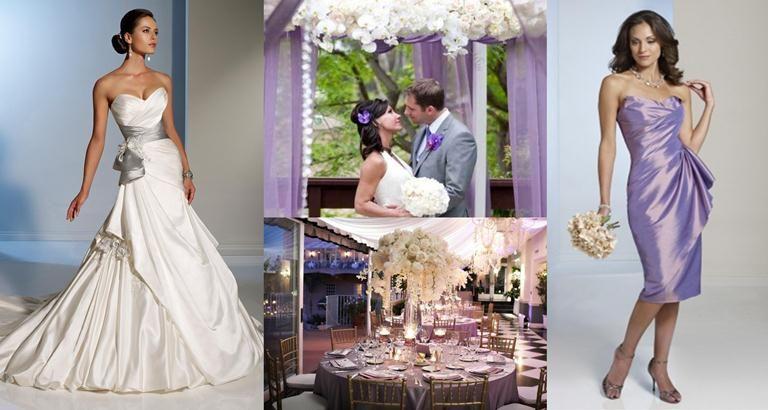 Lavender Wedding Gowns   Lavender-Silver-wedding-themes_Silver ...