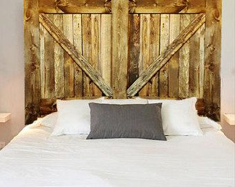 Items Similar To Custom Made Barn Door Headboard Queen With Track Hardware And