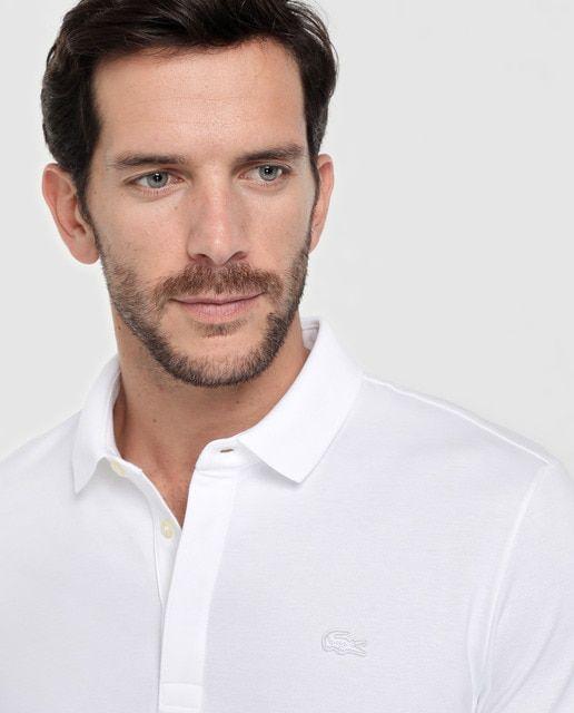 Lacoste – Polo piqué de hombre Lacoste blanco de manga corta