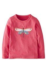 Mini Boden 'Woodland' Appliqué Long Sleeve Tee (Toddler Girls, Little Girls & Big Girls)