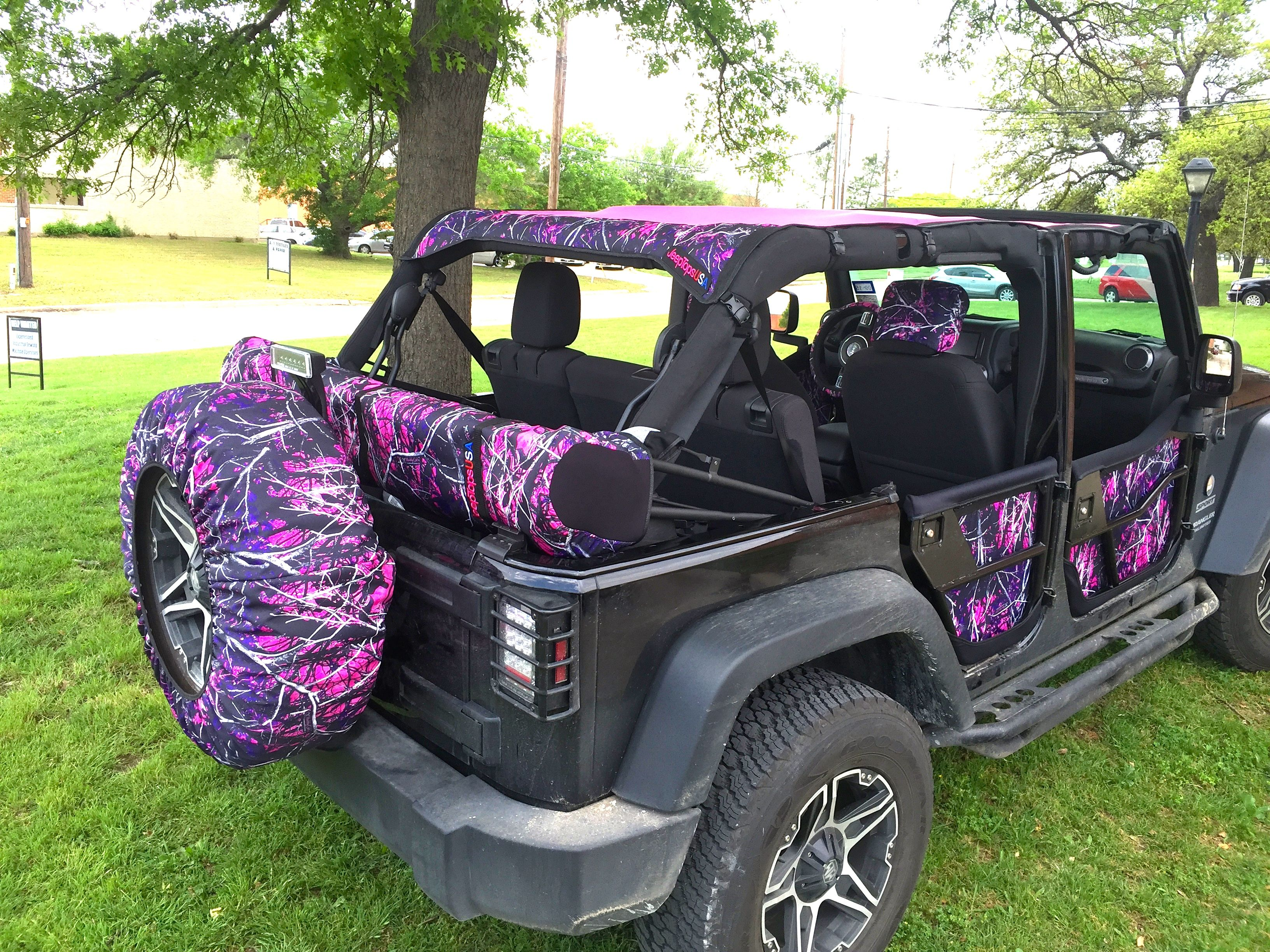 jeeptopsusa full line of muddy girl accessories for the jeep