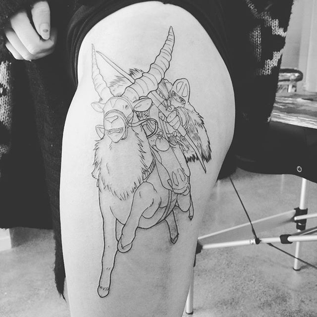 princess mononoke ashitaka tattoo