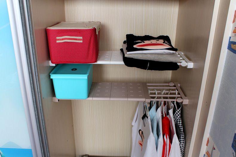 衣櫃收納分層隔板櫃子免釘置物架櫥櫃浴室廚房隔層架可伸縮整理 Hanger Entryway Hanger