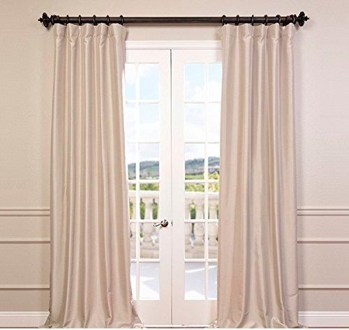 1 Piece 108 Inch Antique Beige Color Rod Pocket Curtain Single